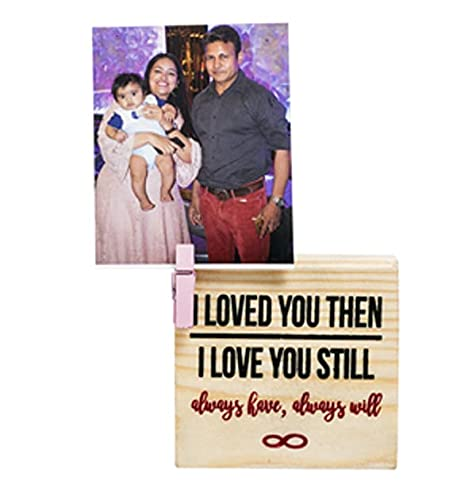 Kavi Clip on Photo Holders, Small Table Photo Frame for Your Partner, Eco-Friendly Gift for Friends, Loved Ones, Reclaimed Wood, Perfect for Workstation, Bedside Table, Size 3.5inX 3.5inX1in