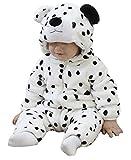 Doladola Babyoverall Animal Leopard Onesies Baby Strampler Säuglingsoverall-Pyjama (0-6 Monate, Schneeleopard)