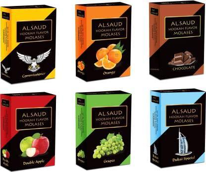 Al Saud 111 ARANCIA, COMMISSIONATO, CIOCCOLATO, DOPPIA mela, Uva, DUBAI SPECIAL narghilè sapore (400 g, confezione da 6)