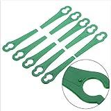 VENTDOUCE Lame per taglierina in plastica 100 Pezzi Decespugliatore per Erba Parte Utensile da Giardinaggio per Tosaerba per Bosch Einhell Coltello tagliaerba