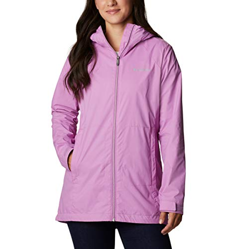 Columbia Women's Switchback Lined Long Rain Jacket, Waterproof, Blossom Pink, 2X Plus