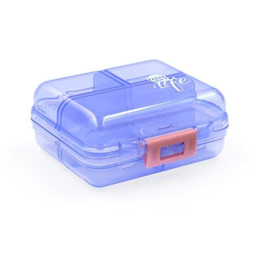 VTAR Pill Box, Portable 7 Compartments Travel Tablet Medicine Vitamin Pill Organizer Container, Pill Case for Purse or Pocket