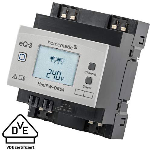 Homematic IP Wired 4-fach-Schaltaktor HmIPW-DRS4