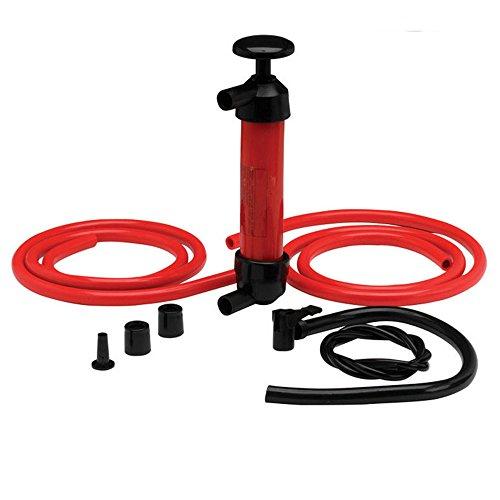 NUZAMAS, pompa a sifone con aspiratore manuale in plastica, due tubi e portata di 5 l/min, per trasferimento di gas, olio, aria e altri liquidi, attrezzo ideale in campeggio o in viaggio