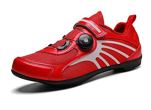 JEANMISS Fahrradschuhe, Professionelle Reflektierende Rennräder Für Männer Und Frauen Radschuhe Sportschuhe Sportliche Schuhe Atmungsaktives Rennradtraining Sportschuhe,D,44 EU