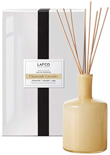 LAFCO New York Signature Scented Reed Diffuser (Chamomile Lavender, Master Bedroom- 15fl. oz.)