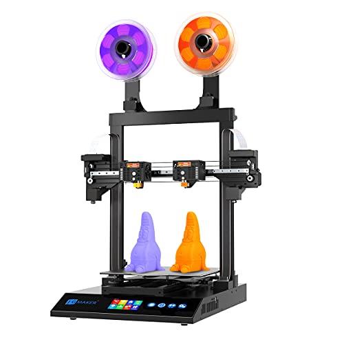 JGMAKER Artist-D Pro Large DIY 3D Printer With Dual Extruder, Direct TMC2209 Driver, X Axis Optical Endstop, 98% Pre- Assemble, 300X300X340mm