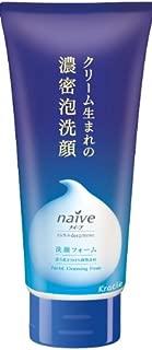 ナイーブ クリーム生まれの濃密泡洗顔 (イソフラボン&マドンナリリーエキス配合) 130g