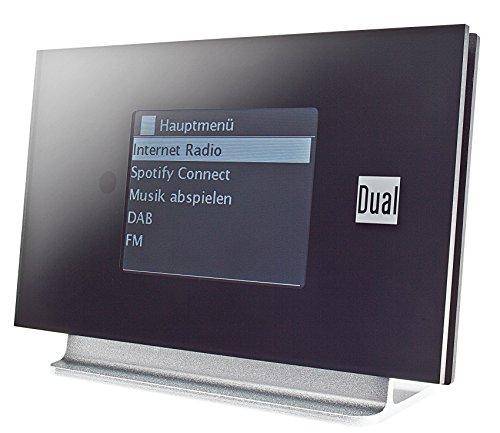 Dual IR 3 A Tragbares Internet-Radio, Digital, schwarz, Silber – (Internet, digital, DAB + FM, TFT, 8,13 cm (3.2 Zoll), 802.11 a, 802.11b, 802.11g, 802.11 n)
