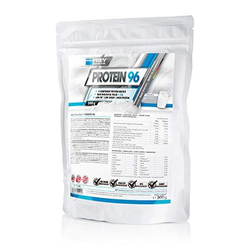 Frey Nutrition Protein 96 Neutral Zipp-Beutel, 1er Pack (1 x 500 g)