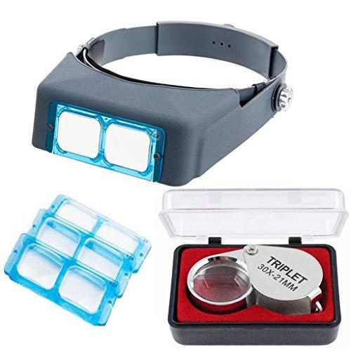 Lente d'ingrandimento per archetto da sole Lente doppia visore, lente d'ingrandimento binoculare in vetro ottico - Ingrandimento 1.5X 2X 2.5X 3.5X
