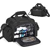Trunab Home Health Nurse Bag Empty, Portable Medical Supplies Shoulder Bag for Hospice, Home Visit, Nursing Students, Black, Bag Only