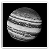 Calcomanías cuadradas de 10 cm BW – Planet Júpiter Space Solar System, calcomanías divertidas para portátiles, tabletas, equipaje, reserva de chatarras, frigoríficos, regalo genial #43086