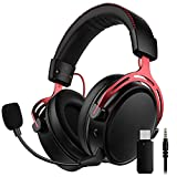 On-Ear Headphones with Microphone, Gaming Headset for PC PAD PS4 PS5 Xbox one Switch Lightweight Folding Stereo Bass