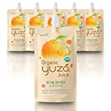 USDA Organic Yuza Citron Juice [ 6 Pouches ] Ready to Drink, ON-THE-GO Vegan Kids Juice, Yuzu Beverage Rich in Vitamin C, Korean Honey Citron Tea by [Yuza]