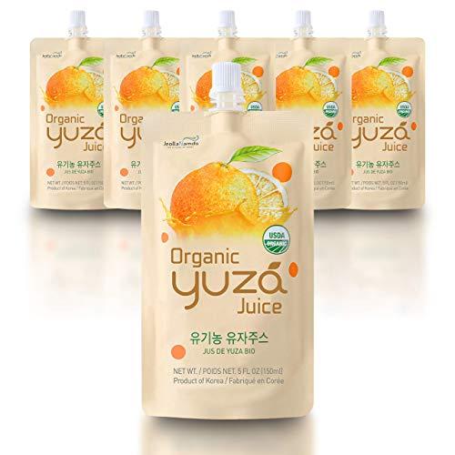 USDA Organic Yuza Citron Juice [ 6 Pouches ] Ready...