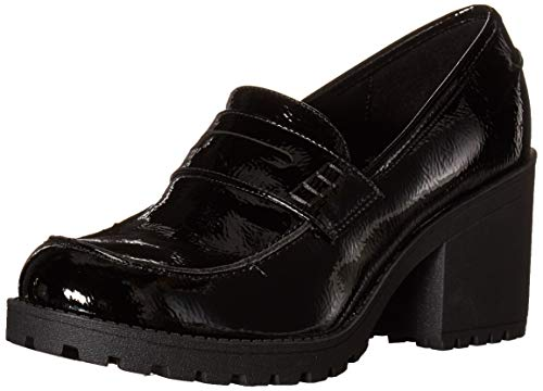 Dirty Laundry womens Heeled Loafer, Black, 8.5 US