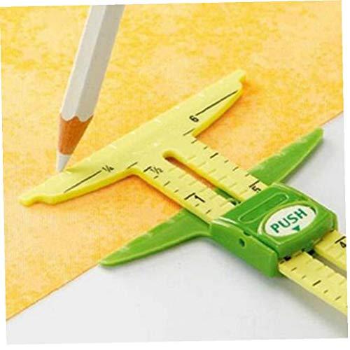 CULER 5-in-1 Mesure Couture Outil Patchwork Outil Règle sur Mesure Règle Outil Accessoires Accueil Utilisation