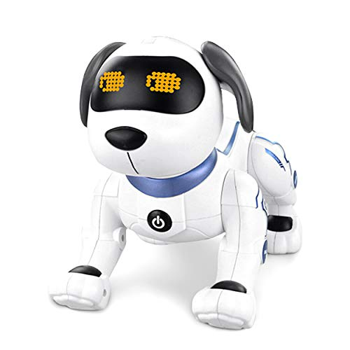 Learning Toy Boxes RC Robot Dog for Kids | Stunt Dog Robot Does Tricks Remote Control Voice Activation | Robotic Puppy Does Handstands Programmable Intelligent Robo Animals