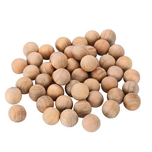 boules de bois de cèdre anti mites Vêtements antimites pour maison Boîtes de rangement tiroirs Armoires évite les moisissures humide 50 pièces