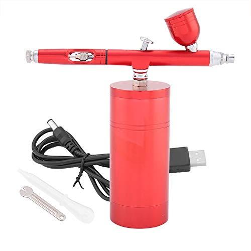 Aerógrafo Uñas Compresores para Aerografo, Mini compresor de Aire de 0,3 mm, Juego de aerógrafo con Pistola pulverizadora, Capacidad 7CC para Pintura, Tatuaje, diseño de uñas