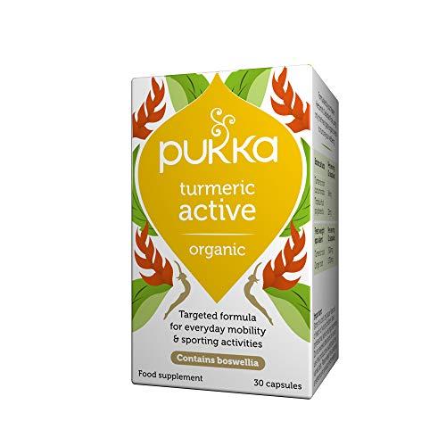 Pukka Herbs Turmeric Active, Organic Turmeric Root Powder, Pack of 30 Capsules 876771