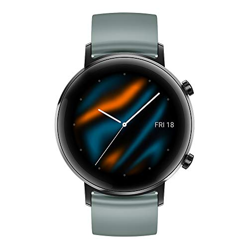 "HUAWEI Watch GT 2 Sport - Smartwatch con Caja de 42 mm, 1 Semana de Uso, Pantalla táctil AMOLED de 1.2"", GPS, 15 Modos Deportivos, Pantalla 3D de Cristal, monitorización cardíaca, Color Lake Cyan"