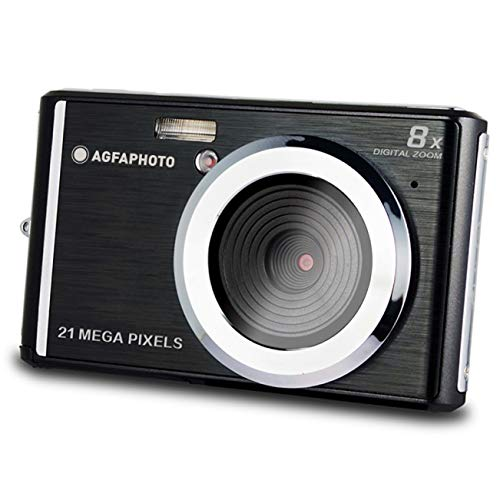 AGFA Photo – Kompakte Digitalkamera mit 21 Megapixel CMOS-Sensor, 8X Digitalzoom und LCD-Display Schwarz