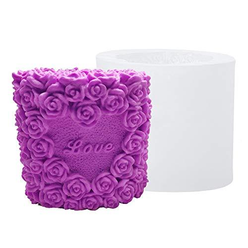 Stampi in silicone 3D per candela, mopoin, stampo in silicone per decorazione di torte, candele, gesso, sapone, regalo di compleanno, fai da te