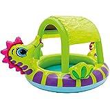 Piscina cubierta de caballito de mar, alrededor de 74 x 58 x 41 pulgadas piscina inflable cubierta de caballito de mar, piscina de material de PVC para niños que les gusta jugar en el agua
