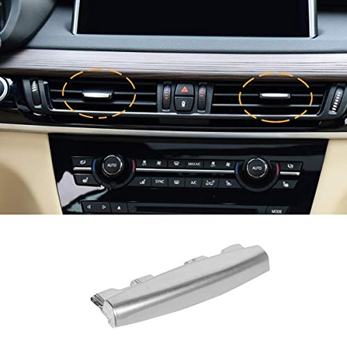 Jaronx Compatible with BMW X5/X6 Air Vent Clip Tab Chrome-Plated Trim, Upgraded Front Row Air Vent Clip Air Conditioning Vent Outlet Tab Clip (Compatible with BMW X5 F15 2014-2018, X6 F16 2015-2018)