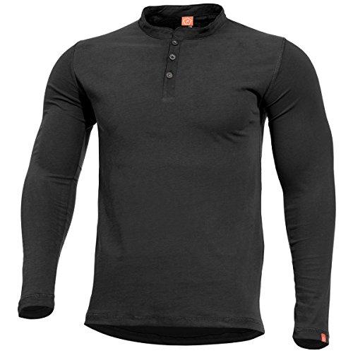 Pentagon Romeo Henley Chemise Homme Noire Taille XL