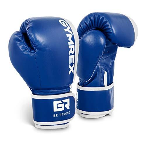Gymrex GR-BG 6P Boxhandschuhe Kinder Jugend Boxen Handschuhe Boxsport 6 oz blau-weiß
