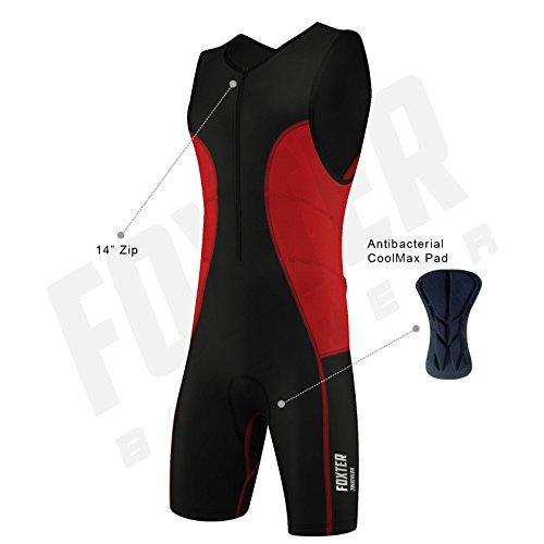 Triathlon-Anzug für Herren, Kompressionsanzug, rot, xl