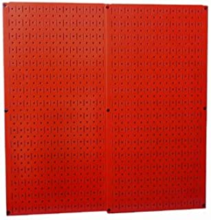 Wall Control 30-P-3232R Red Metal Pegboard Pack