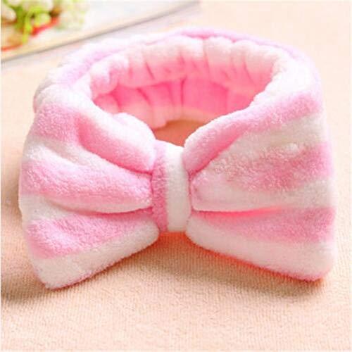 8 PcsBig Rabbit Ear Coral Fleece Head Band Soft Elastic Hair Ribbon SPA Bath Shower Make Up Wash Face Headband Hair Band Headwear 5