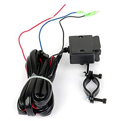 Aintier 12V Solenoid Relay Contactor w/Winch Rocker Thumb Switch Combo for ATV UTV