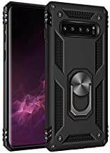 Compatible Samsung Galaxy S10 Plus Case Hard PC and Soft TPU Shock Protective Case Magnetic Car Mount Ring Kickstand