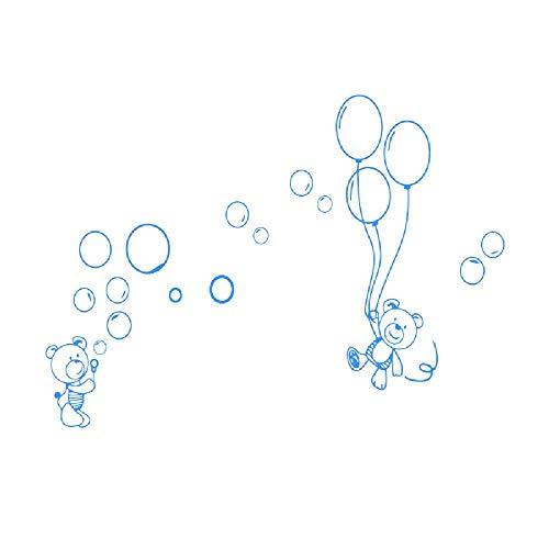 Kreatives Bärenballon-hohles Wohnzimmerschlafzimmer Fernsehmalereiausgangsdekorationswandgemälde
