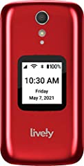 EASY TO USE: From the makers of Jitterbug, the Lively Flip features a large, bright screen and big buttons with backlit keypad make dialing effortless, while an easy list-based menu makes navigation easy HEALTH & SAFETY SERVICES: The dedicated Urgent...