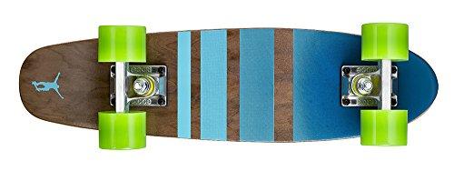 Ridge Erwachsene Maple Holz Mini Cruiser Number Three Skateboard, Grün, 56 cm