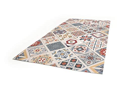 BiancheriaWeb Tappeto Passatoia Cucina Antiscivolo Digitale Dis. Maiolica Mattonella Multicolor 50x180 Multicolor