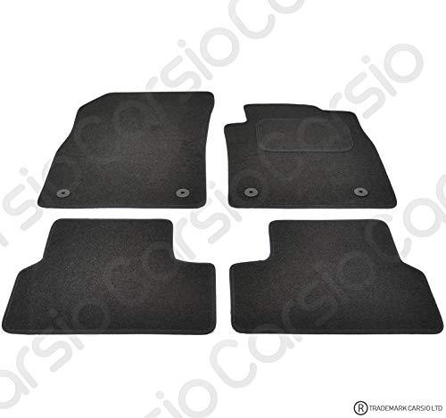 Carsio Tailored Black Carpet Car Mats for Vauxhall Astra J MK6