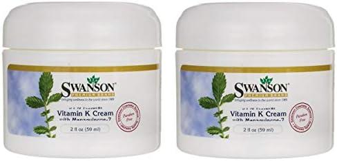 Swanson Vitamin K Cream with Menaquinone-7 2 fl Ounce (59 ml) Cream