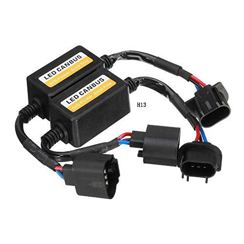 Ligdeun.auto H13/9008 Canbus Decoder Upgraded H13 Led Resistor Resistor H13 Anti-Flicker Harness 9008 Error Free Computer Warning Canceller LED Headlight Bulb