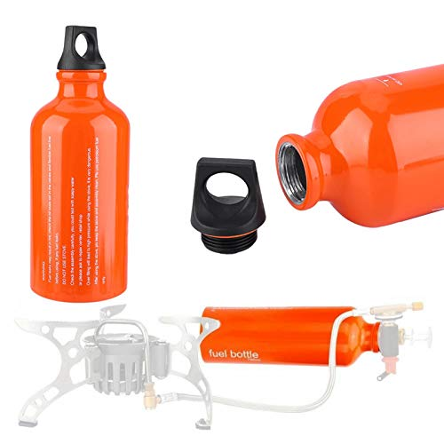 Leakproof Fuel Bottle, Aluminium Alloy Fuel Oil Container, for Outdoor 530ML Durable Hiking