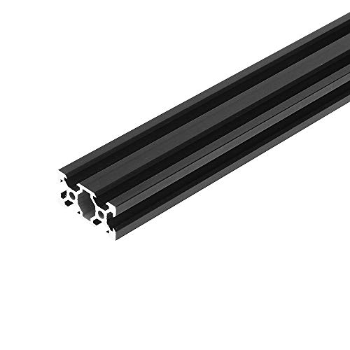 RFElettronica, Machifit 2040 V-Slot Profili In Alluminio Profilato Nero con Scanalatura a V, telaio estruso per stampante 3D e CNC, 200mm