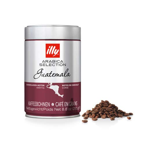 Illy Arabica Selections Guatemala Whole Bean Coffee, 100% Arabica Bean Single Origin Coffee, Complex & Bold Taste, Notes Of Chocolate, No Preservatives, Guatemala, 8oz (Pack of 6)