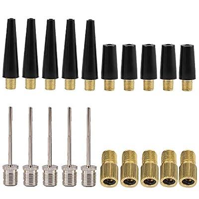 Janegio 20 Pieces Needle Inflator Kit Ball Pump Needle Set Needle Nozzle Adapter