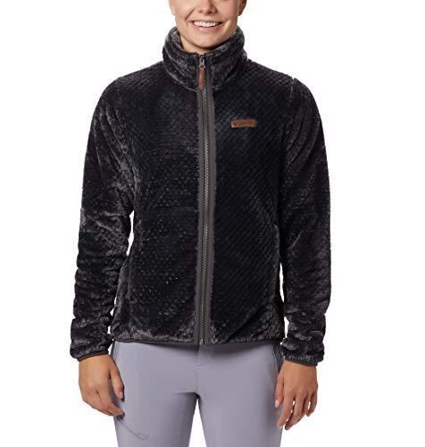 Columbia Women's Fire Side II Sherpa Full Zip Outerwear, Shark, X-Large